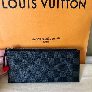 Louis Vuitton Damier Graphite Pouch Insert Wallet